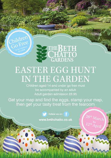 Easter Egg Hunt The Beth Chatto Gardens - Easter-us-map